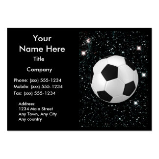 MY WORLD: SOCCER ~ LARGE BUSINESS CARDS (Pack OF 100)