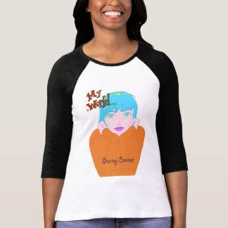 My World Staring Contest girls apparel T-Shirt