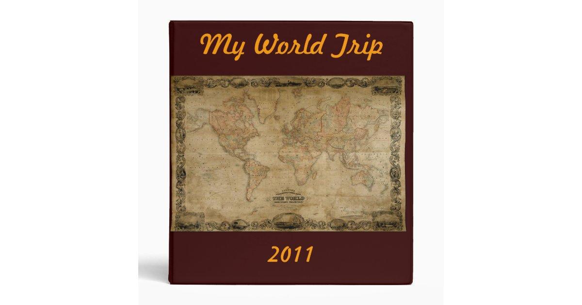 MY WORLD TRIP PHOTO ALBUM BINDER – Map My World Trip