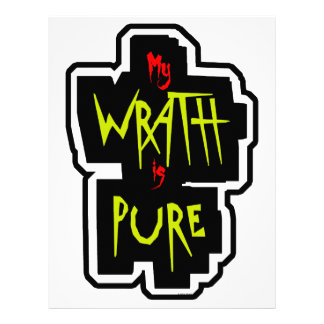 My WRATH is PURE Letterhead