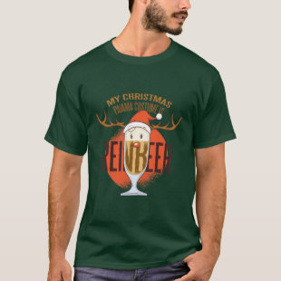 My Xmas Pajama Costume Is ReinBEER Funny BEER Mens T-Shirt