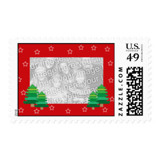 My Xmas Trees Template Postage Stamps