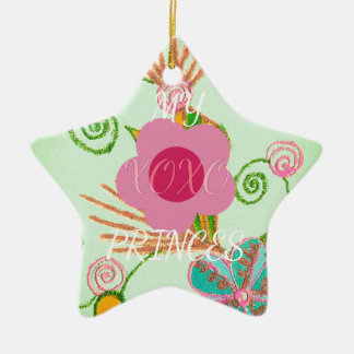 My XOXO Little Princess Design Ceramic Ornament