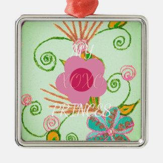 My XOXO Little Princess Design Metal Ornament