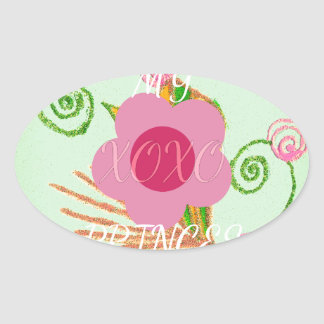 My XOXO Little Princess Design Oval Sticker