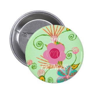 My XOXO Little Princess Design Pinback Button