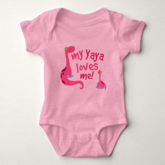 My Yaya Loves Me Dinosaur Baby Bodysuit