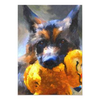 My Yellow Friend German Shepherd 5x7 Mini Prints Personalized Invites