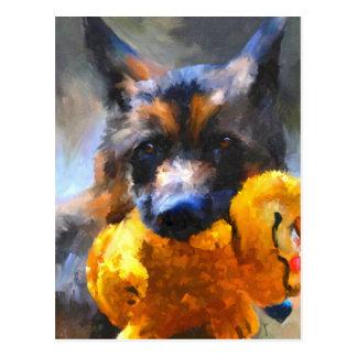 My Yellow Friend German Shepherd Postcard