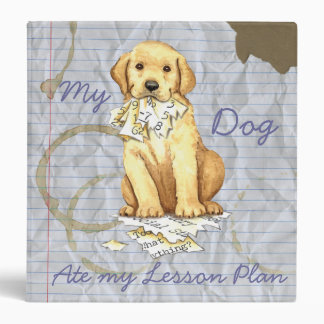 My Yellow Lab Ate my Lesson Plan Binder