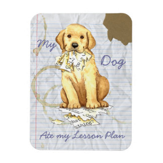 My Yellow Lab Ate my Lesson Plan Magnet