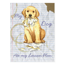 My Yellow Lab Ate my Lesson Plan Postcard