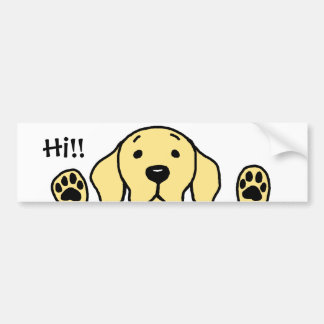 "My Yellow Lab ""Hi!!"" Bumper Sticker"