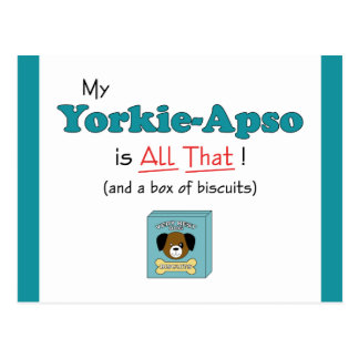 My Yorkie-Apso is All That! Postcard