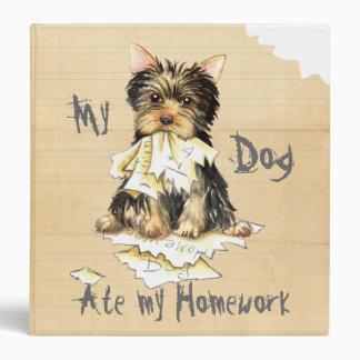 My Yorkie Ate my Homework 3 Ring Binder