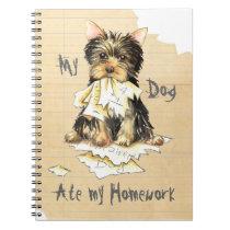 My Yorkie Ate my Homework Notebook