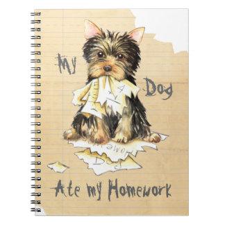 My Yorkie Ate My Homework Journal