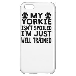 Case Savvy Matte Finish iPhone 5C Case with Yorkshire Terrier Phone Cases design