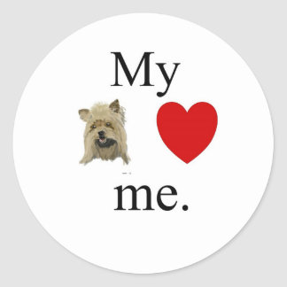 My yorky loves me stickers