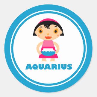 My Zodiac Sign is Aquarius Classic Round Sticker