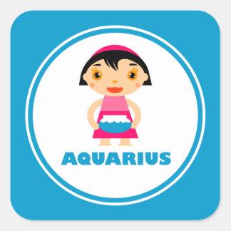 My Zodiac Sign is Aquarius Square Sticker