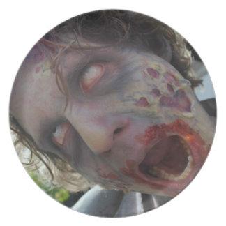 My Zombie Valentine Melamine Plate