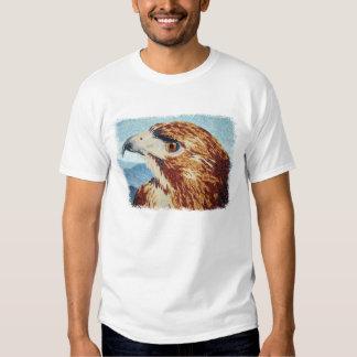 Mya - camiseta del halcón de la Rojo-cola Playera