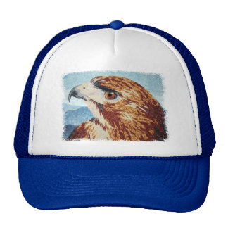 Mya - Red-tail Hawk Cap Trucker Hat