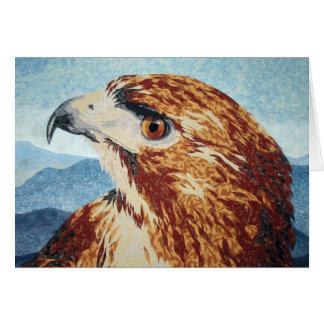 Mya - Red-tail Hawk Card