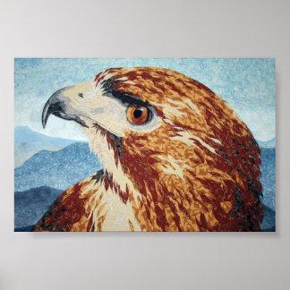 Mya - Red-tail Hawk Poster
