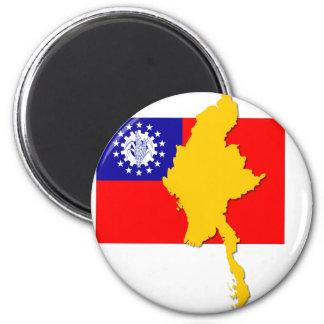 Myanmar - Burma 2 Inch Round Magnet