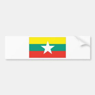 Myanmar (Burma) Flag Bumper Sticker