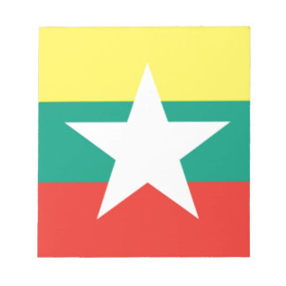 Myanmar (Burma) Flag Notepad