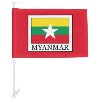 Myanmar Car Flag