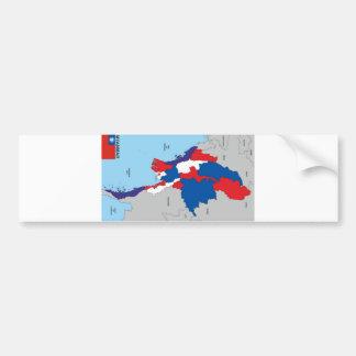 Myanmar country political map shape flag bumper sticker
