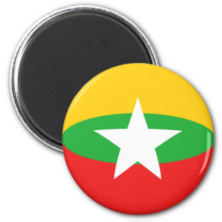 Myanmar Fisheye Flag Magnet