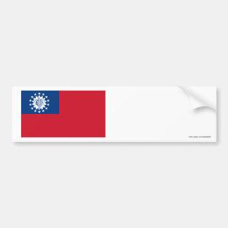 Myanmar Flag 1974-2010 Bumper Sticker