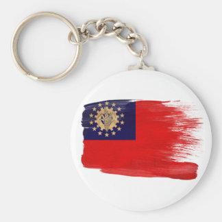 Myanmar Flag Basic Round Button Keychain