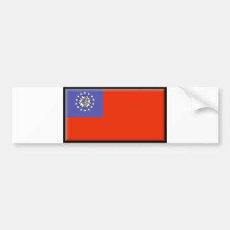 Myanmar Flag Bumper Sticker