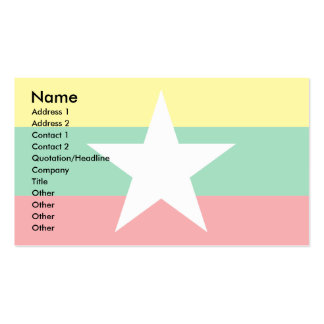 Myanmar Flag Double-Sided Standard Business Cards (Pack Of 100)