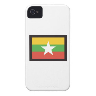 MYANMAR FLAG iPhone 4 Case-Mate CASES