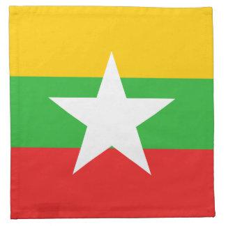 Myanmar Flag Napkin