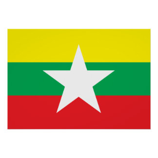 Myanmar Flag Poster