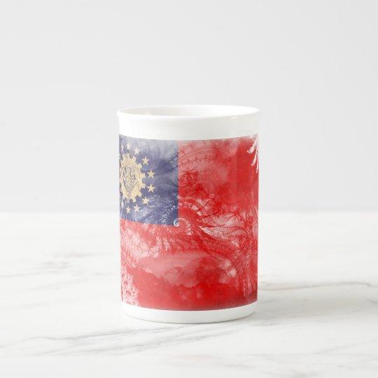 Myanmar Flag Tea Cup