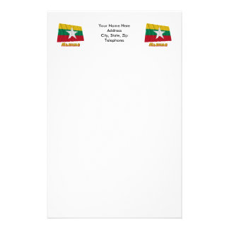 Myanmar Flag with Name in Russian Stationery