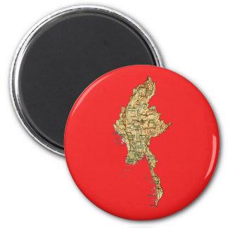 Myanmar Map Magnet