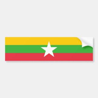 Myanmar/Myanmarese Burma/Burmese Flag Bumper Sticker