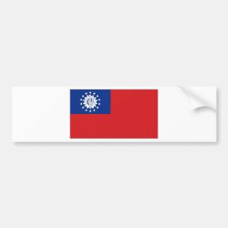 Myanmar National Flag Bumper Sticker