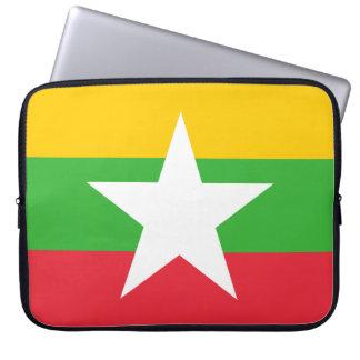 Myanmar National World Flag Computer Sleeve