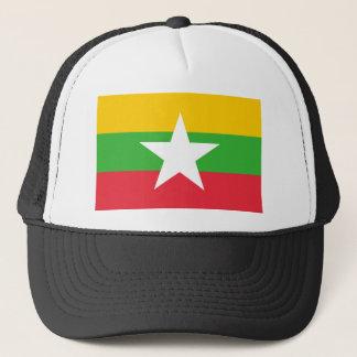 Myanmar National World Flag Trucker Hat